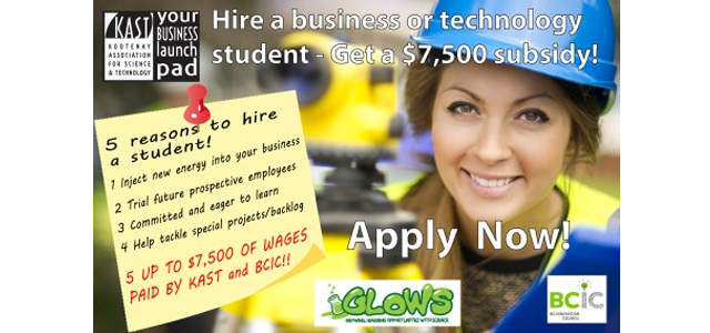 Hire A Student-Glows, KAST, BCIC