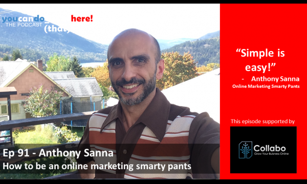 Episode 91 – Anthony Sanna, How to be an online marketing smarty pants