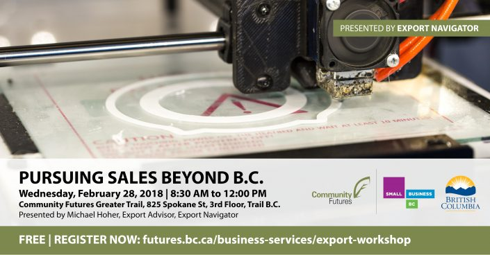 Beyond BC export workshops Trail and Castlegar