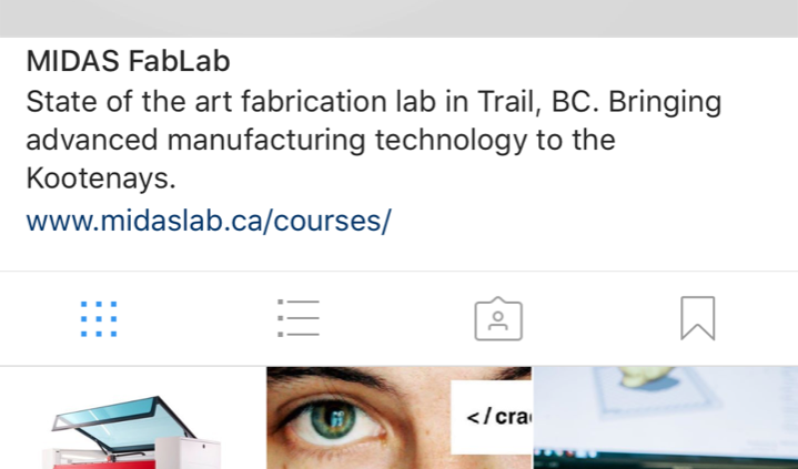 Follow the MIDAS Fab Lab on Instagram