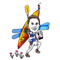 Ben Marken MIDAS Lab Assistant caricature