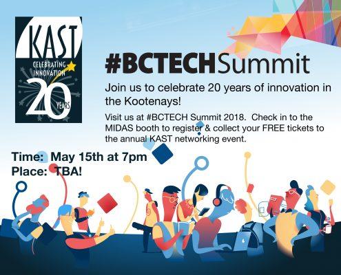 BCTECHSummit gathering 20th Anniversary celebration for KAST